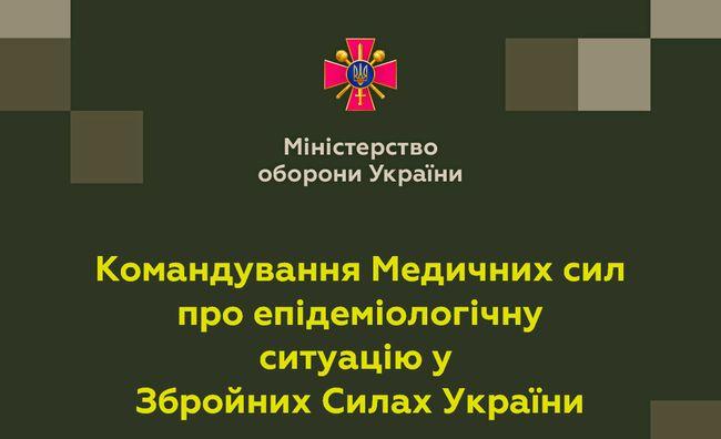 Командування Медичних сил про епідемічну ситуацію у Збройних Силах України станом на 29 червня